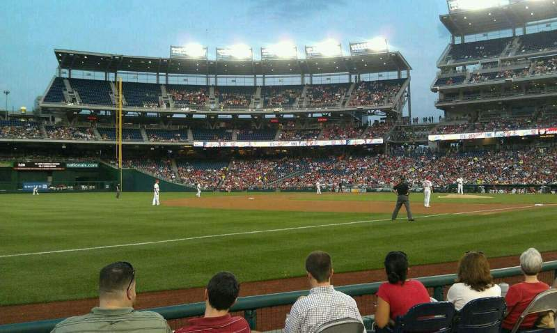Seating view for Nationals Park Section 112 Row E Seat 21