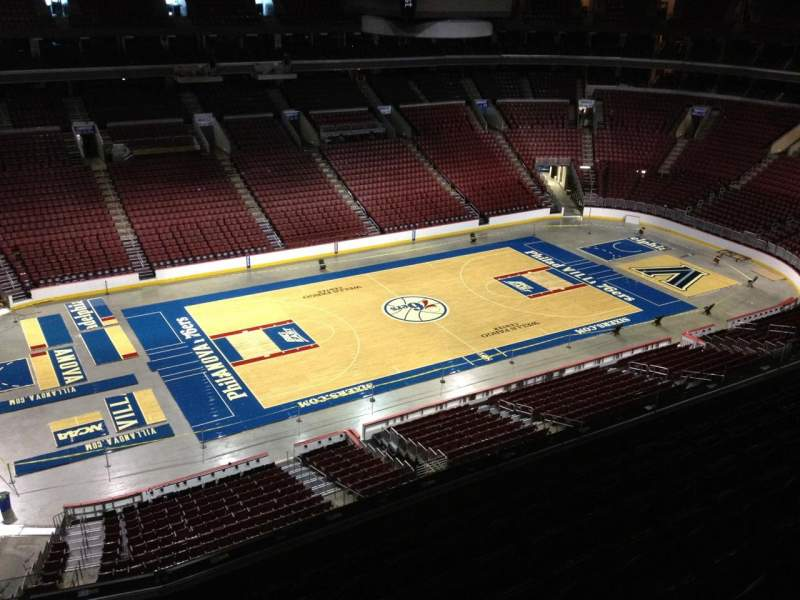 Seating view for Wells Fargo Center Section 223 Row 8 Seat 1