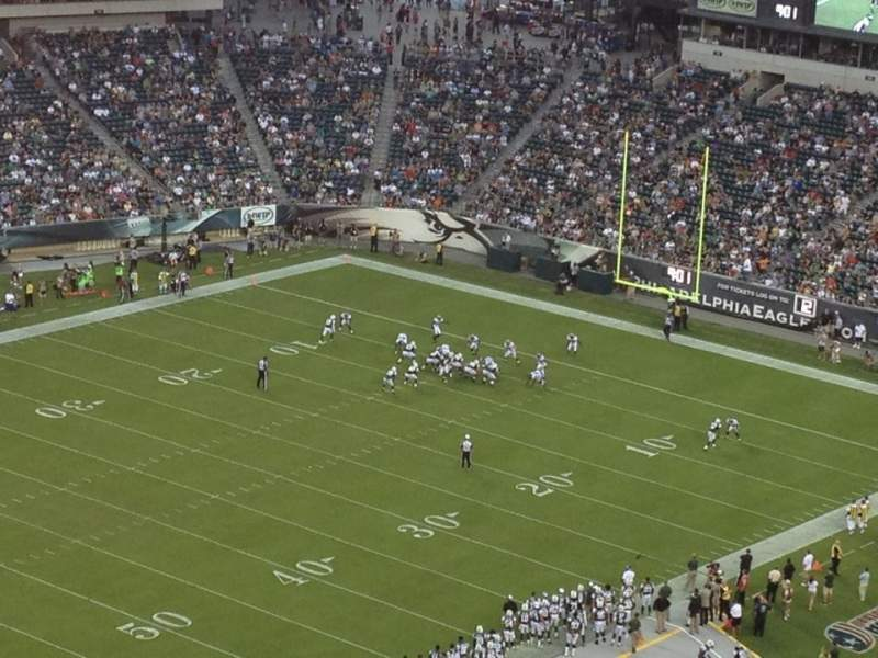Seating view for Lincoln Financial Field Section 220 Row 23 Seat 19