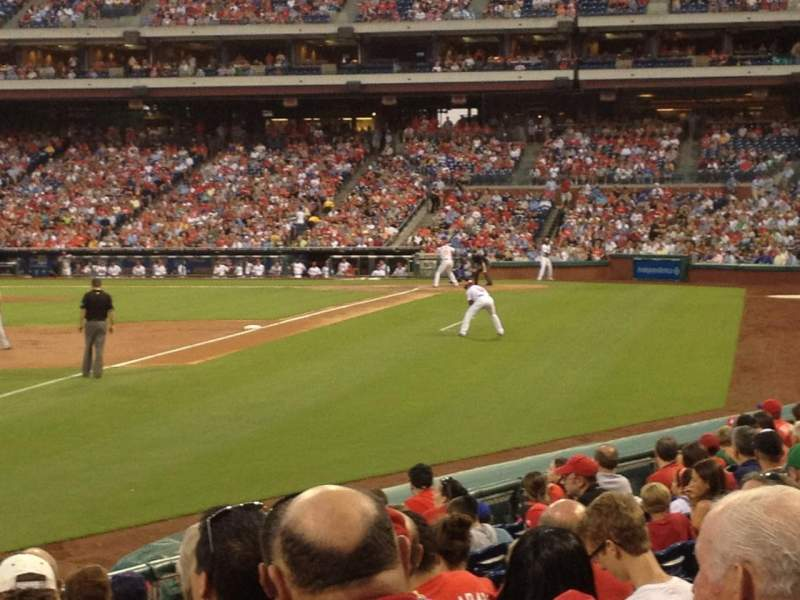 Seating view for Citizens Bank Park Section 138 Row 14 Seat 1