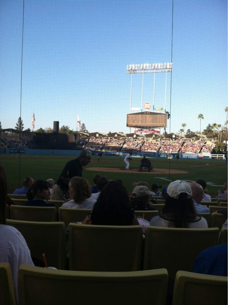 Seating view for Dodger Stadium Section 3FD Row DD Seat 5