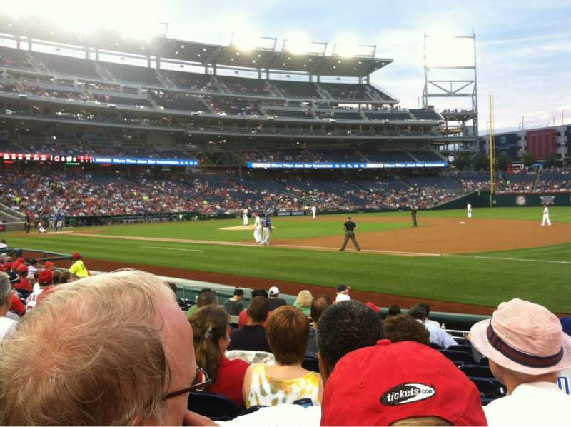 Seating view for Nationals Park Section 132 Row H Seat 7