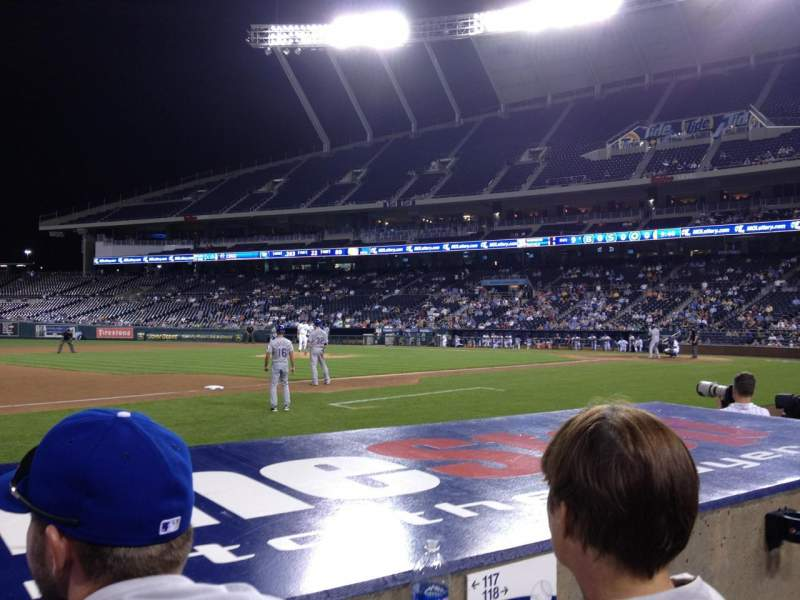 Seating view for Kauffman Stadium Section 117 Row B Seat 10