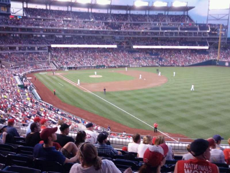 Seating view for Nationals Park Section 231 Row h Seat 11