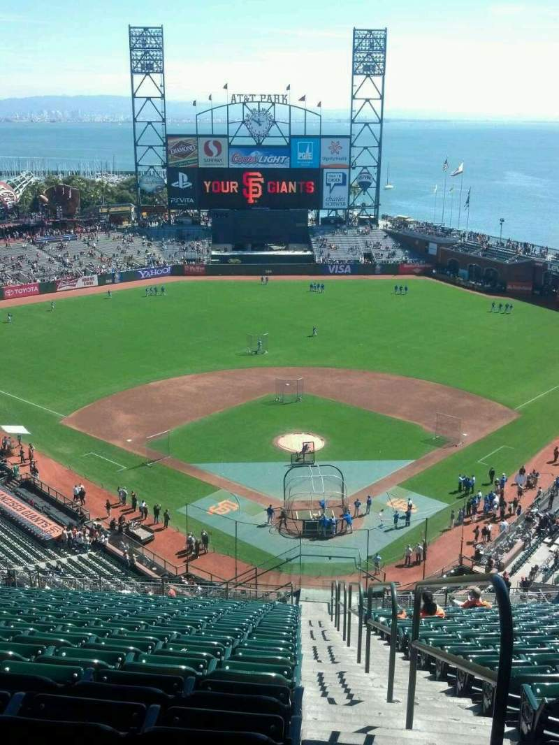 Seating view for AT&T Park Section 317 Row 18 Seat 1