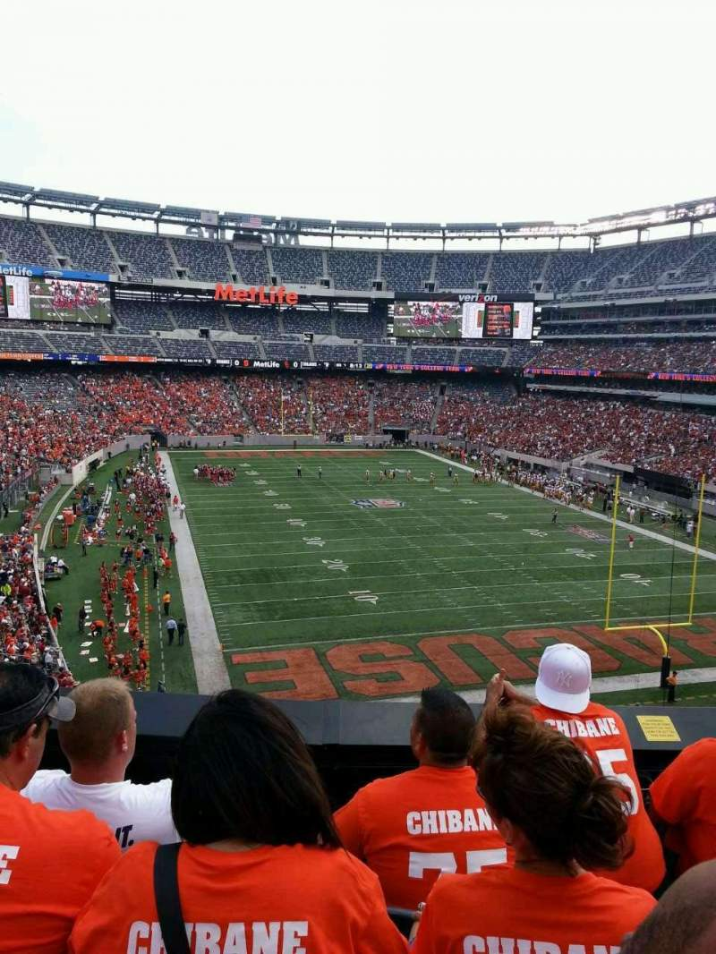 Seating view for MetLife Stadium Section 204 Row 4 Seat 11