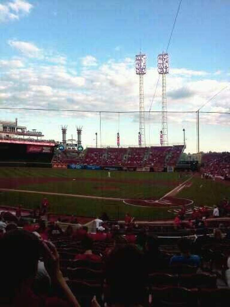 Seating view for Great American Ball Park Section 120 Row aa Seat 3
