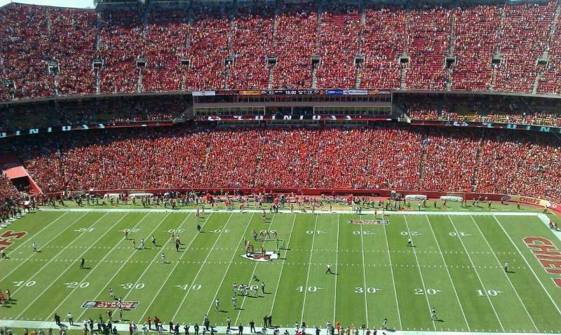 Seating view for Arrowhead Stadium Section 346 Row 40 Seat 10