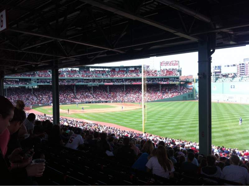 Seating view for Fenway Park Section Grandstand 5 Row 13 Seat 26