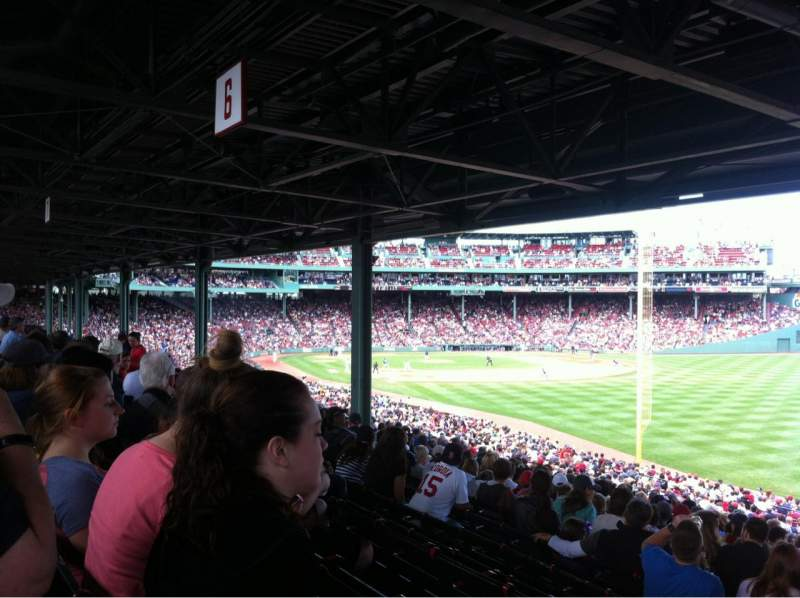 Seating view for Fenway Park Section Grandstand 5 Row 13 Seat 27