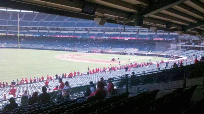 Seating view for Angel Stadium Section 205 Row K Seat 14