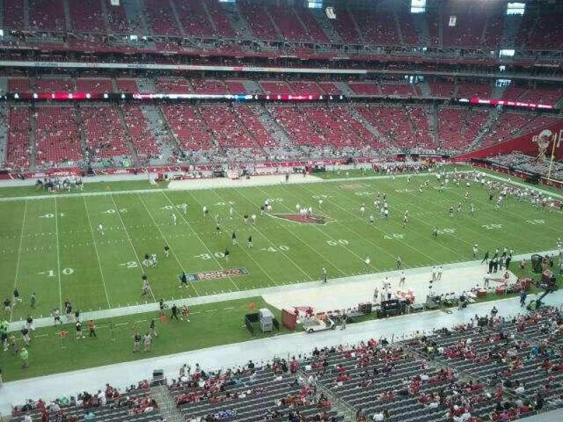 Seating view for University of Phoenix Stadium Section 416 Row A Seat 8
