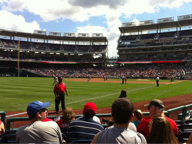 Seating view for Nationals Park Section 110 Row F Seat 12
