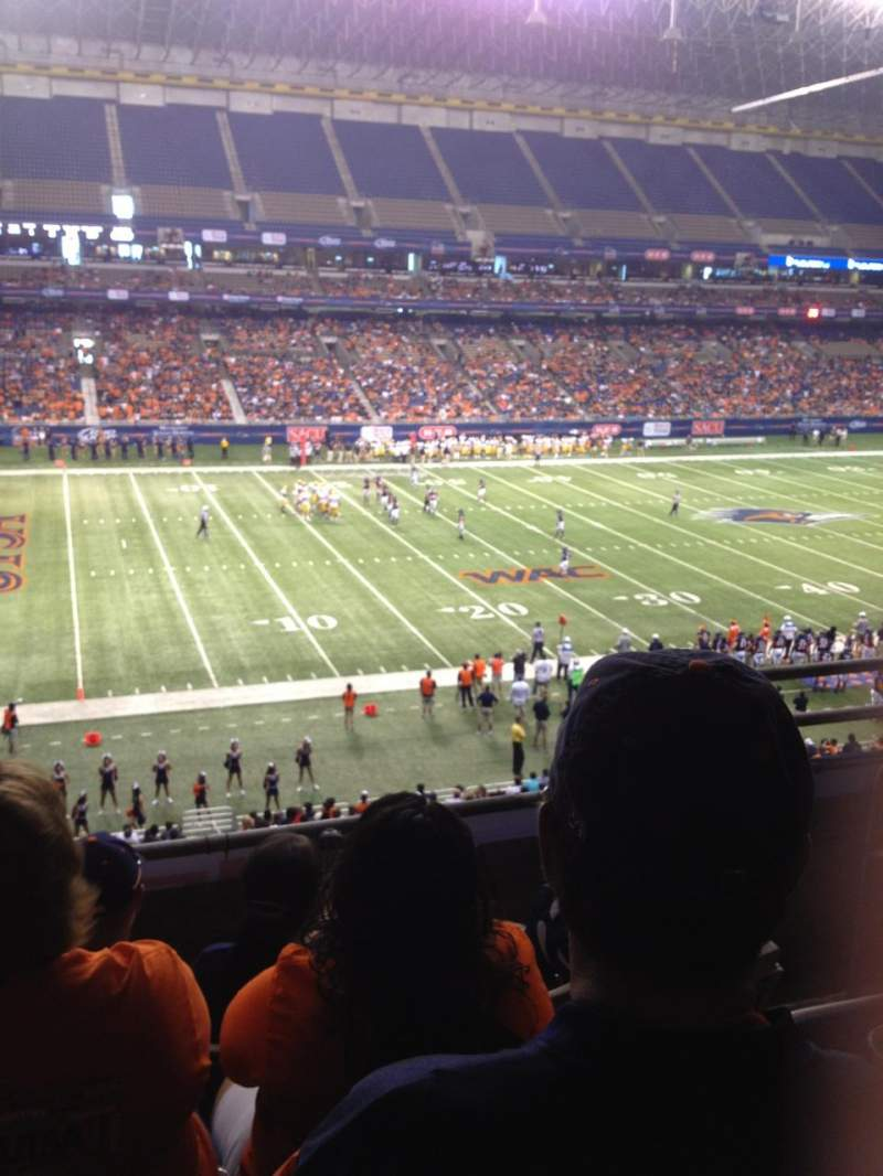 Seating view for Alamodome Section 216 Row 4 Seat 3