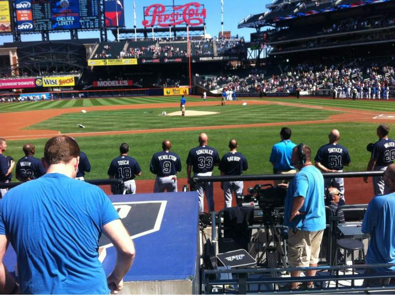 Seating view for Citi Field Section 121 Row 4 Seat 10