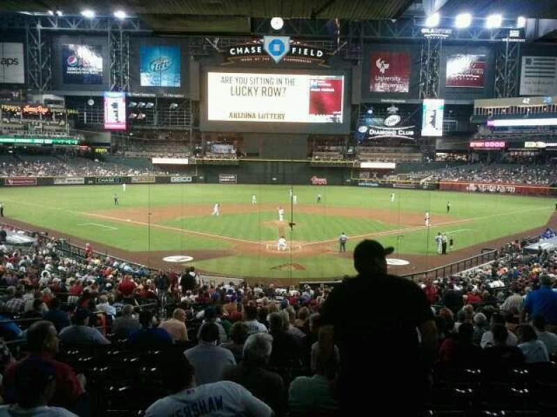 Seating view for Chase Field Section 122 Row W Seat 8