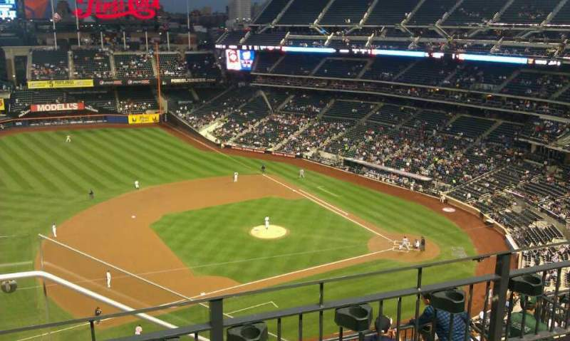 Seating view for Citi Field Section 522 Row 3 Seat 23