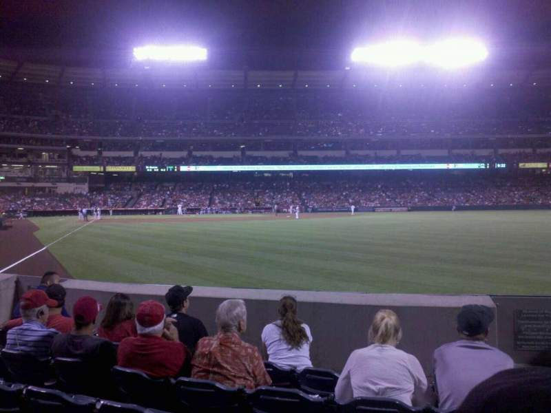 Seating view for Angel Stadium Section F135 Row E Seat 16
