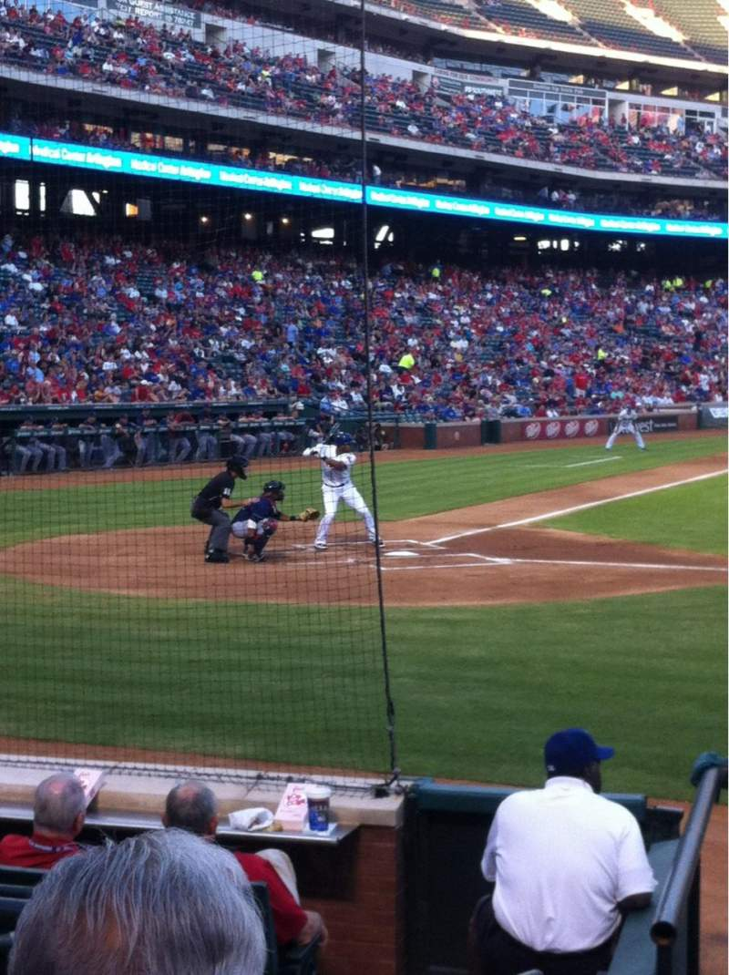 Seating view for Globe Life Park in Arlington Section 31 Row 6 Seat 2