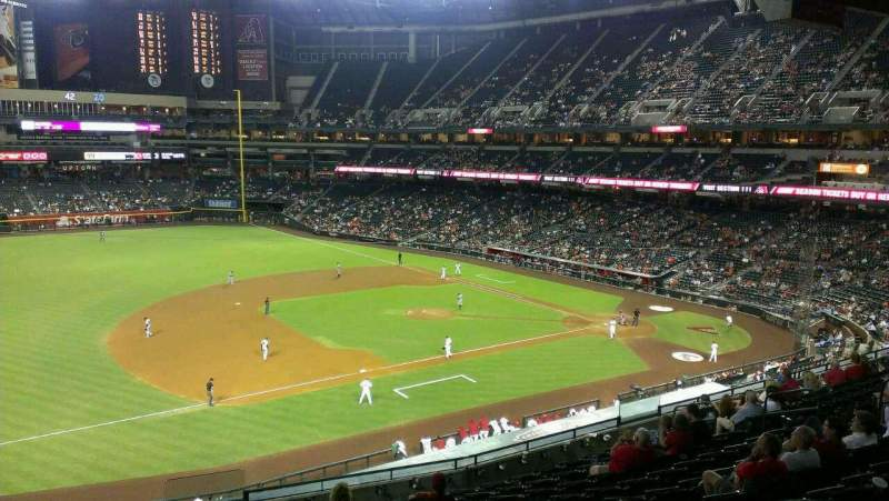 Seating view for Chase Field Section 215 Row L Seat 3