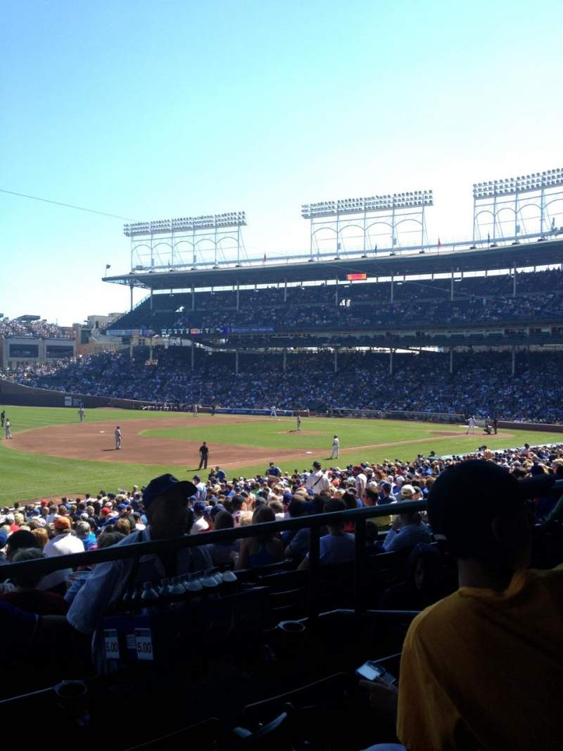 Seating view for Wrigley Field Section 206 Row 3 Seat 10