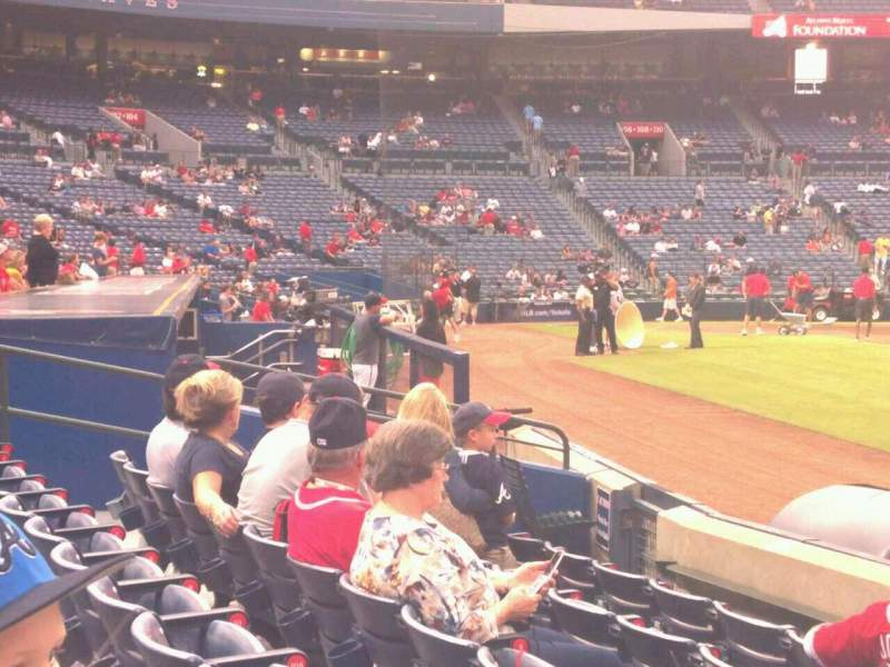 Seating view for Turner Field Section 119L Row 5 Seat 101