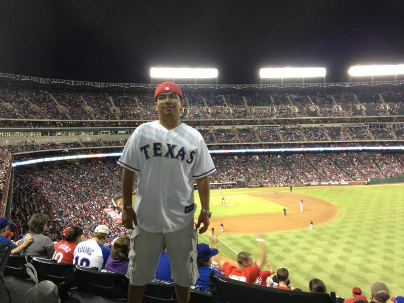 Seating view for Globe Life Park in Arlington Section 201 Row 15 Seat 4