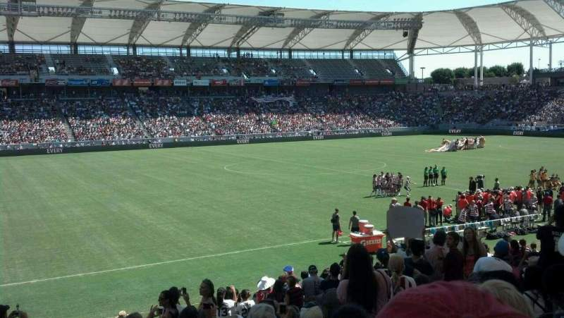 Seating view for StubHub Center Section 114 Row S Seat 5
