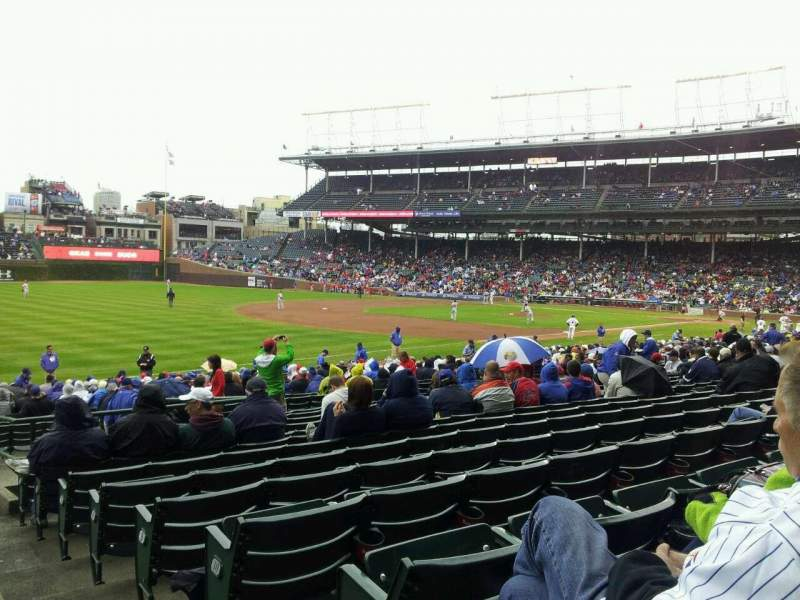 Seating view for Wrigley Field Section 106 Row 13 Seat 101