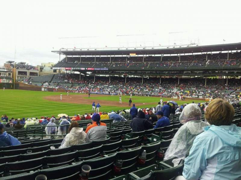 Seating view for Wrigley Field Section 106 Row 13 Seat 108