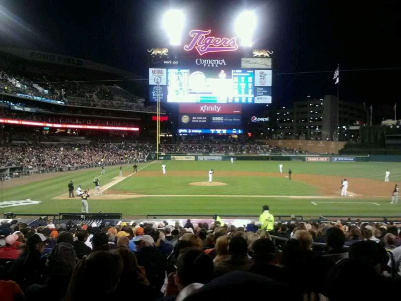Seating view for Comerica Park Section 123 Row 31 Seat 4