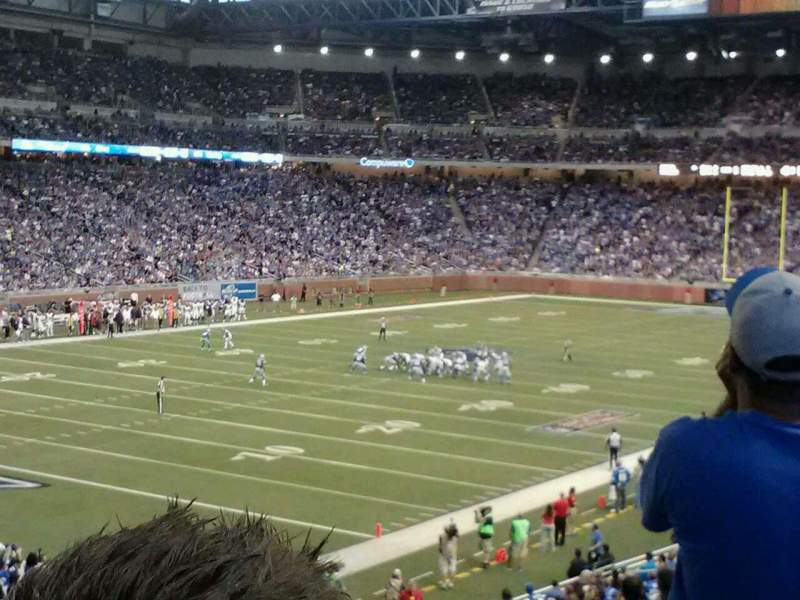 Seating view for Ford Field Section 141 Row 36 Seat 25