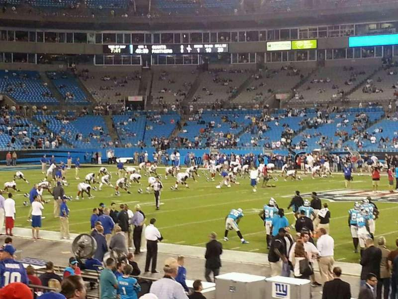 Seating view for Bank of America Stadium Section 110 Row 10 Seat 5