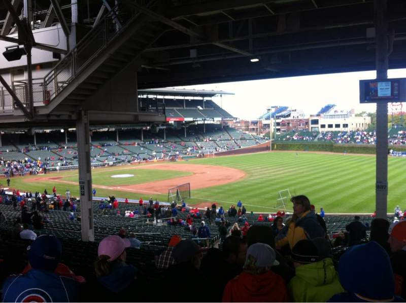 Seating view for Wrigley Field Section 237 Row 23 Seat 105