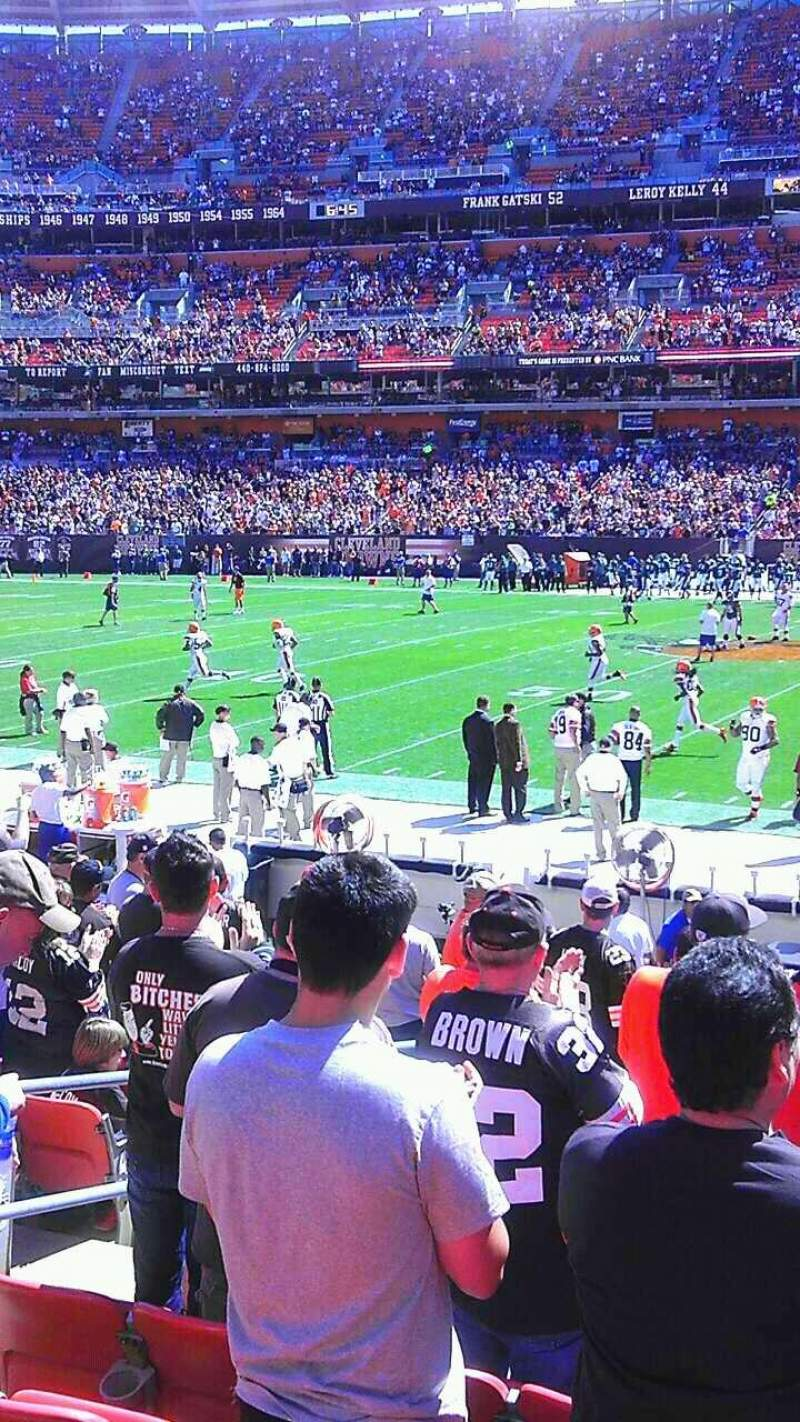 Seating view for FirstEnergy Stadium Section 132 Row 12 Seat 6