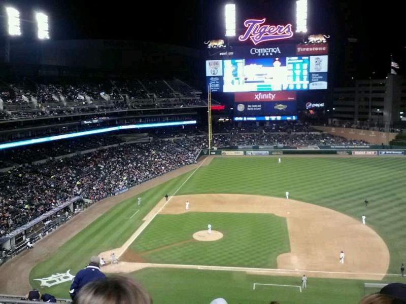 Seating view for Comerica Park Section 322 Row 5 Seat 5