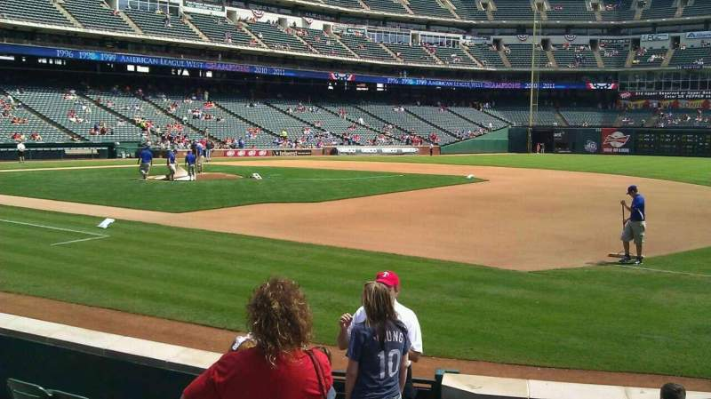 Seating view for Globe Life Park in Arlington Section 36 Row 5 Seat 1