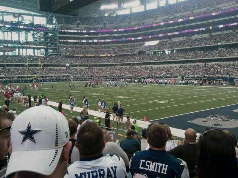 Seating view for AT&T Stadium Section 127 Row 8 Seat 13