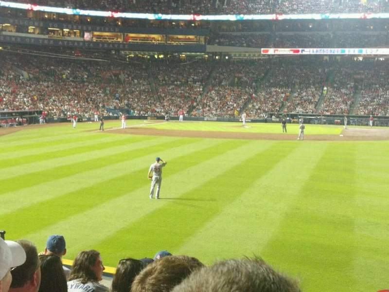 Seating view for Turner Field Section 137R Row 18 Seat 12