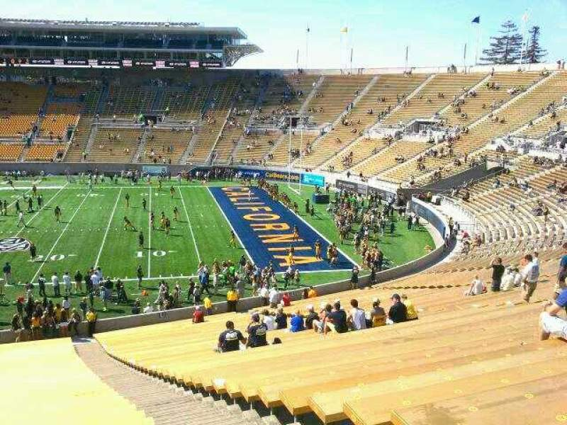 Seating view for California Memorial Stadium Section TT Row 51 Seat 3