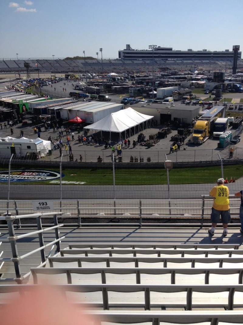 Seating view for Dover International Speedway Section 192 Row 9 Seat 10