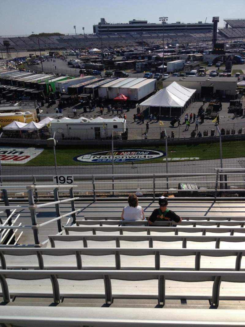 Seating view for Dover International Speedway Section 195 Row 9 Seat 6
