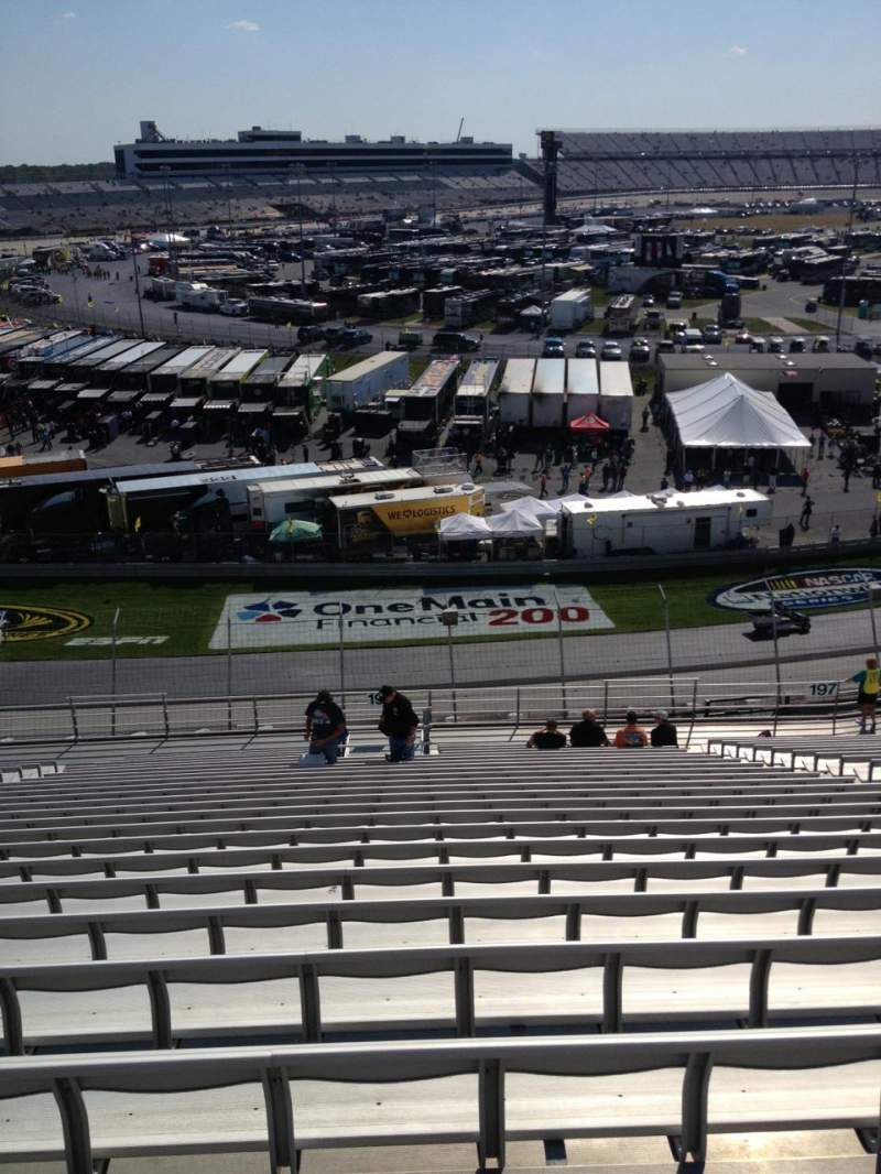 Seating view for Dover International Speedway Section 198 Row 24 Seat 9