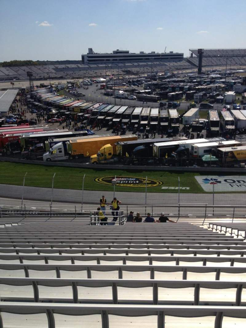 Seating view for Dover International Speedway Section 201 Row 22 Seat 7
