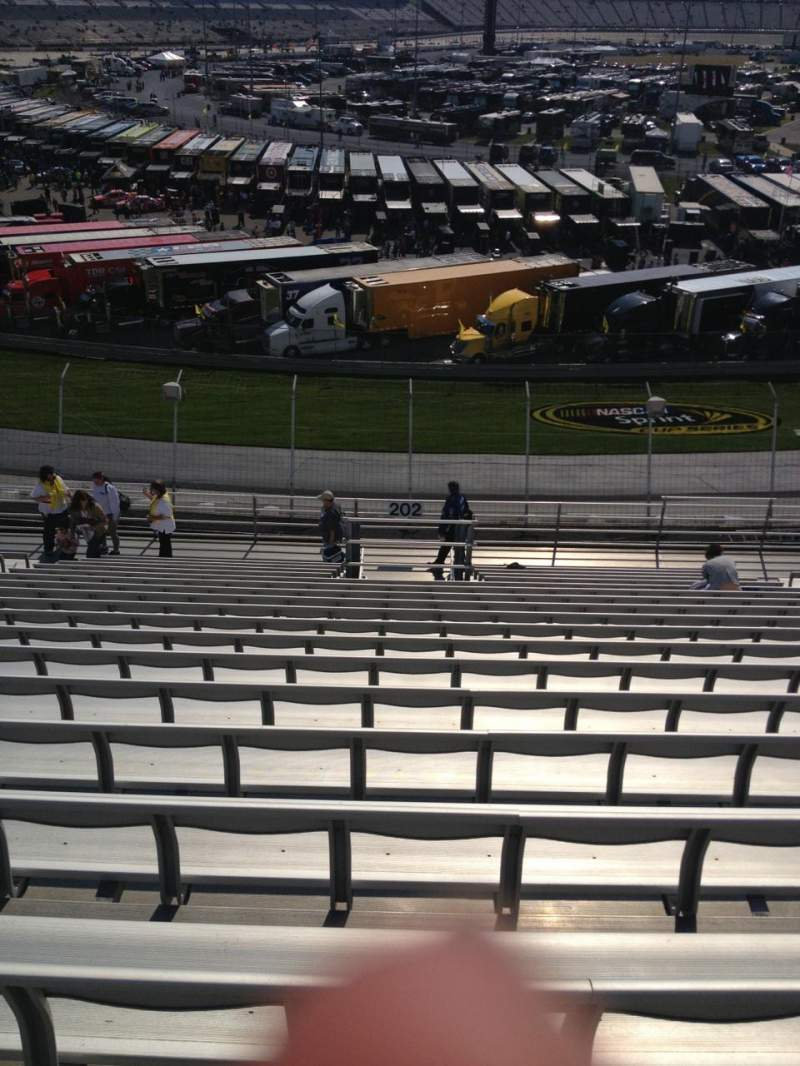 Seating view for Dover International Speedway Section 202 Row 18 Seat 11