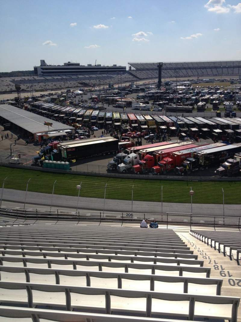 Seating view for Dover International Speedway Section 206 Row 26 Seat 2