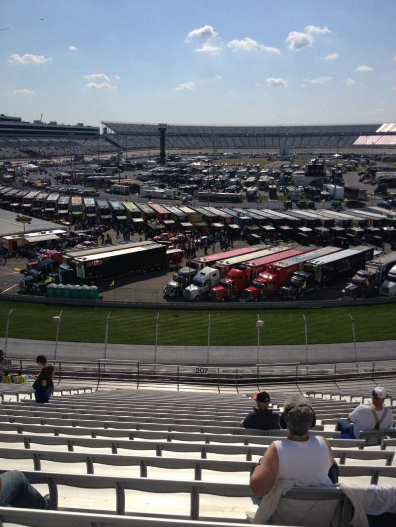 Seating view for Dover International Speedway Section 207 Row 24 Seat 11