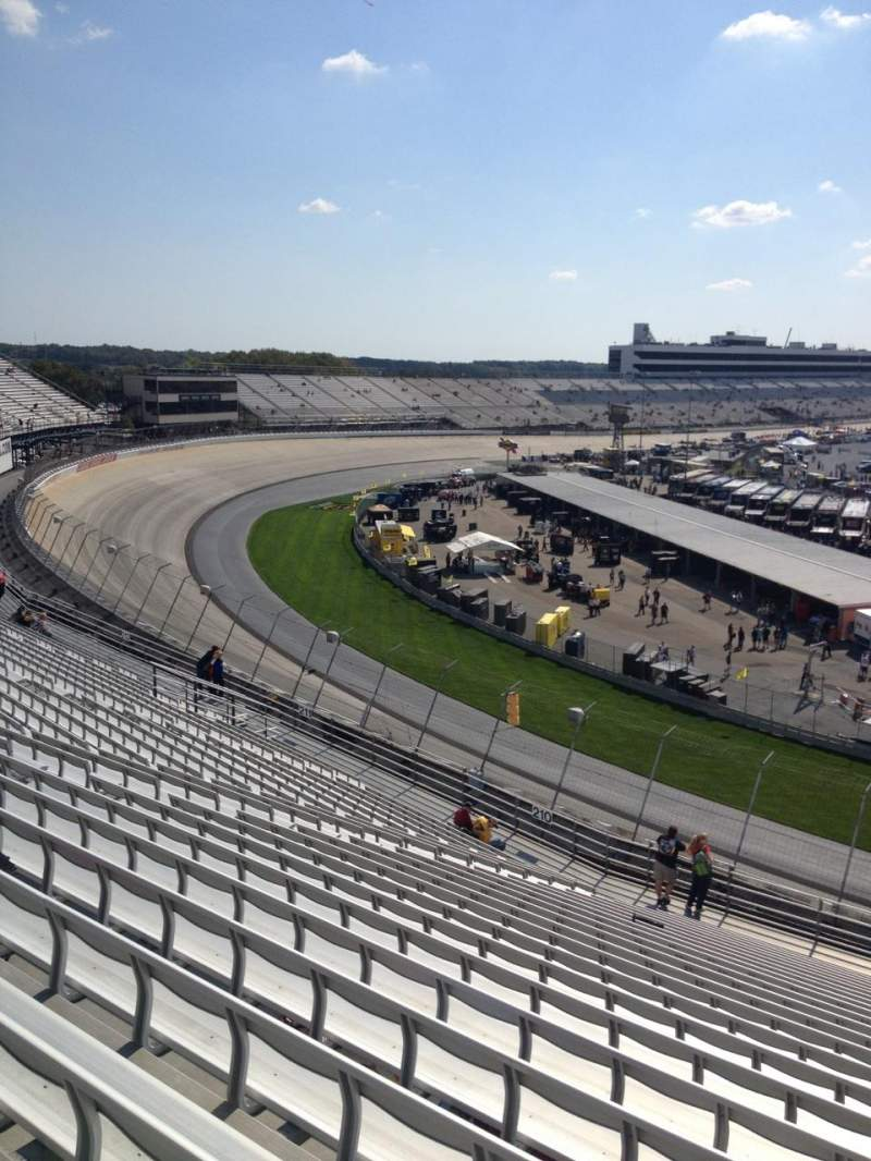 Seating view for Dover International Speedway Section 209 Row 23 Seat 4