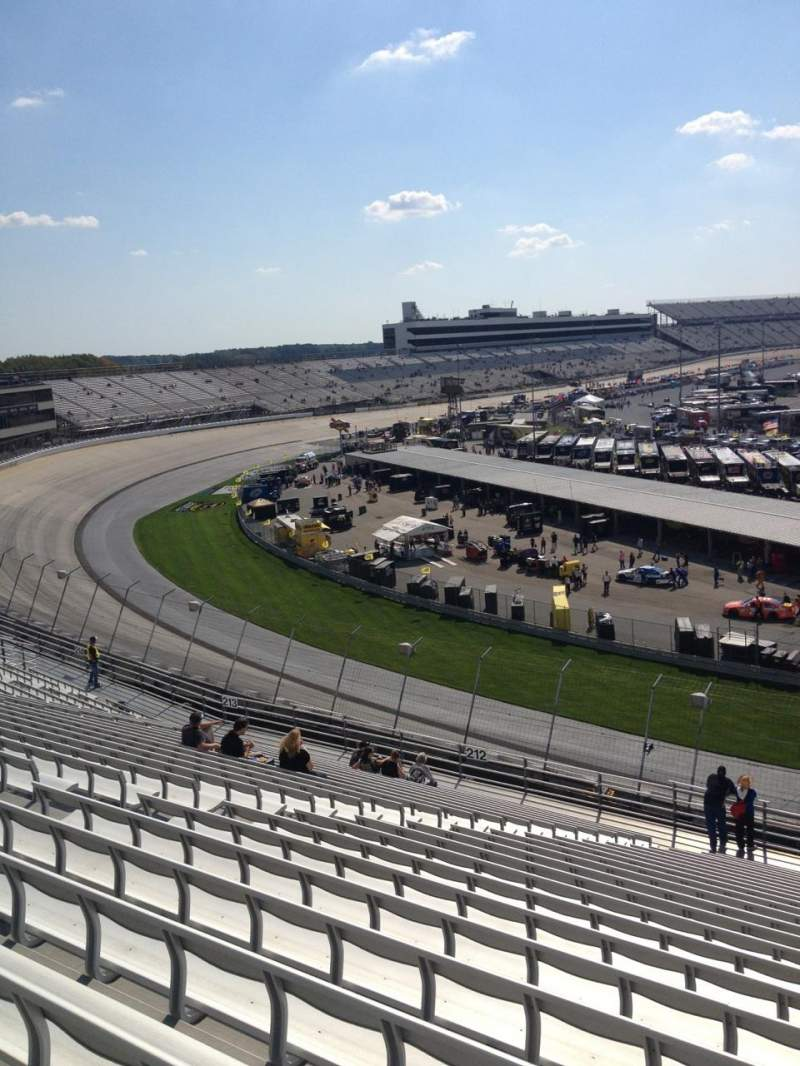 Seating view for Dover International Speedway Section 211 Row 23 Seat 9
