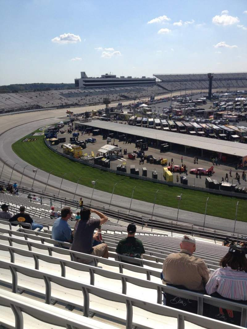 Seating view for Dover International Speedway Section 212 Row 28 Seat 9